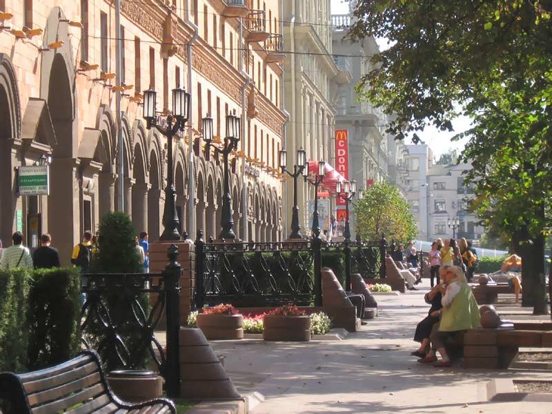 Фото Минска.  Минск - европейский город.